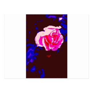 Alpine Sunset Chintz Rose Postcard