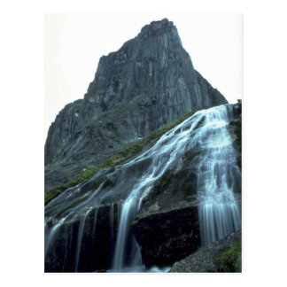 Alpine waterfall in the Logan Mountains, NWT, Cana Postcard