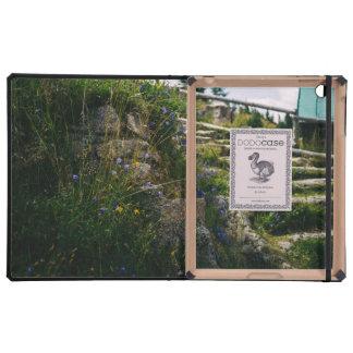 Alpine Wild Flowers On A Hiking Road iPad Folio Cases