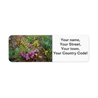 Alpine Wildflower Address Labels