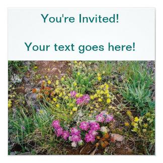"""Alpine Wildflower Invitations 5.25"""" Square Invitation Card"""