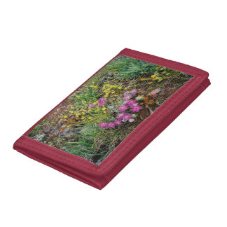 Alpine Wildflower Red Wallet