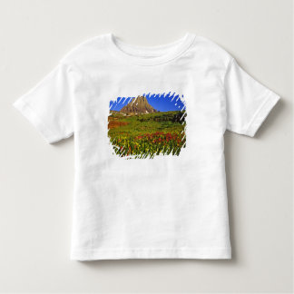 Alpine wildflowers at Logan Pass in Glacier Toddler T-shirt