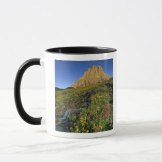 Alpine wildflowers & Mt Clements at Logan Pass Mug