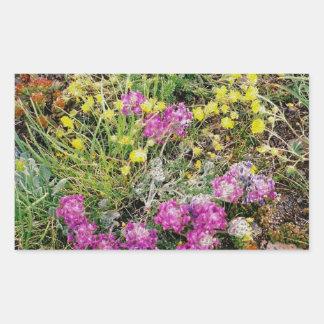 Alpine Wildflowers Rectangular Sticker