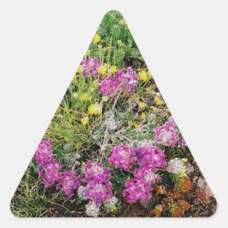 Alpine Wildflowers Triangle Sticker