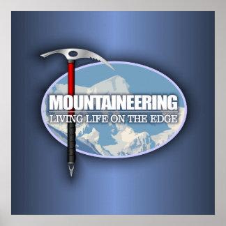 Alpinismo (hacha de hielo) póster