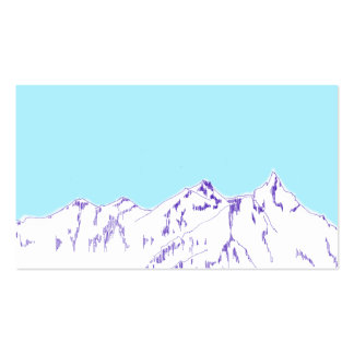 alpinist Double-Sided standard business cards (Pack of 100)