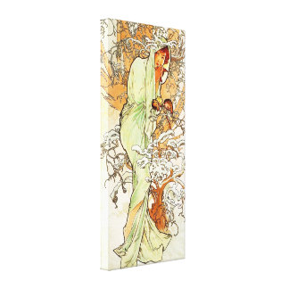 Alpohnse Mucha Winter Canvas Poster