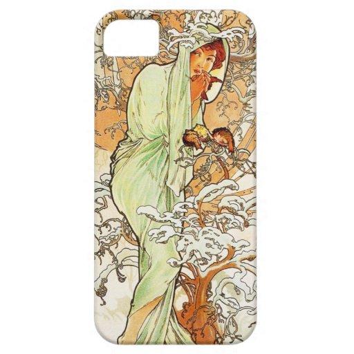 Alpohnse Mucha Winter iPhone 5 Case