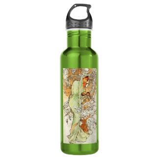 Alpohnse Mucha Winter 24oz Water Bottle