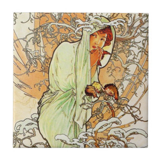 Alpohnse Mucha Winter Tile