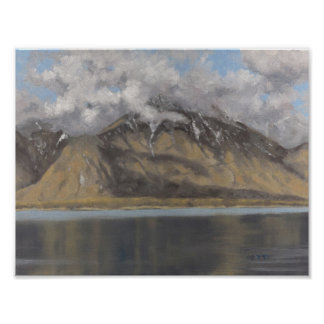 Alps across lac Leman Poster