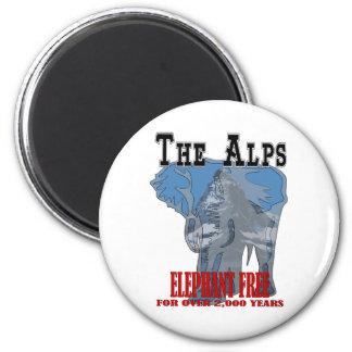 Alps - Elephant Free 2 Inch Round Magnet