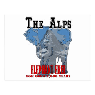 Alps - Elephant Free Postcard