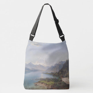 Alps Lake Mountains Hikers Shoulder Tote Bag