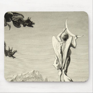 Alps Milan Angel Moon Cathedral Engraving Spire Mouse Pad