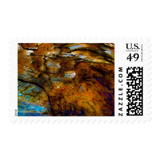 """Alps On Wood"" JTG Art Postage Stamp"