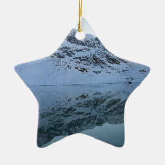 Alps, Switzerland Double-Sided Star Ceramic Christmas Ornament