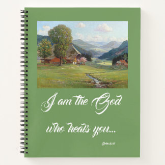 Alps Wildflower Meadow God Heals You Notebook