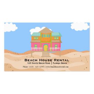 Alquiler de la casa de playa plantilla de tarjeta de negocio