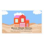 Alquiler de la casa de playa plantillas de tarjetas de visita