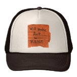 Alquiler del arte 4 gorra
