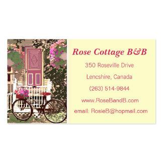 Alquiler floral bonito de la cama y del tarjetas de visita