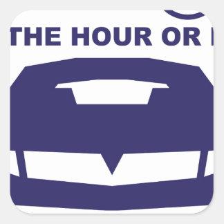 Alquileres de coches rápidamente por hora o día pegatina cuadrada