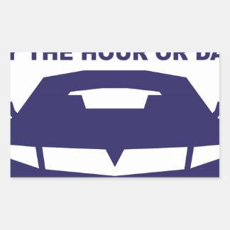 Alquileres de coches rápidamente por hora o día pegatina rectangular