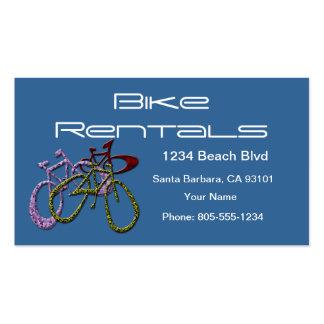 Alquileres de la bici tarjetas de negocios
