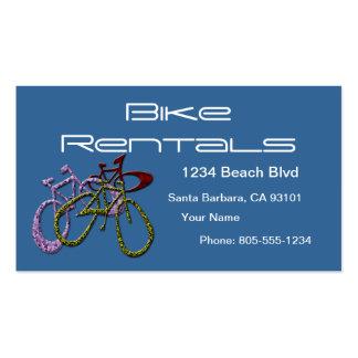 Alquileres de la bici tarjeta de negocio