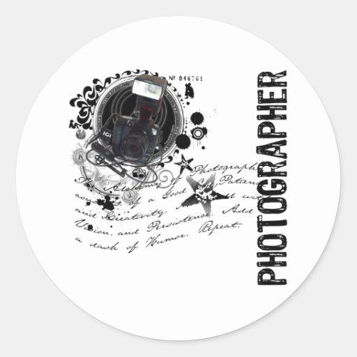 Alquimia de la fotografía (fotógrafo) pegatina redonda