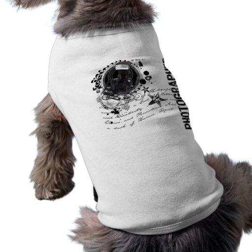 Alquimia de la fotografía (fotógrafo) playera sin mangas para perro