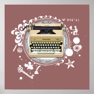 Alquimia de la máquina de escribir de la escritura impresiones