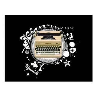Alquimia de la máquina de escribir de la escritura postales