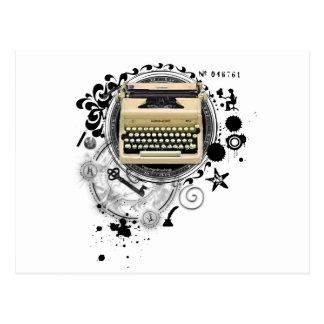 Alquimia de la máquina de escribir de la escritura tarjeta postal