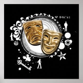 Alquimia de las máscaras temporarias del drama posters