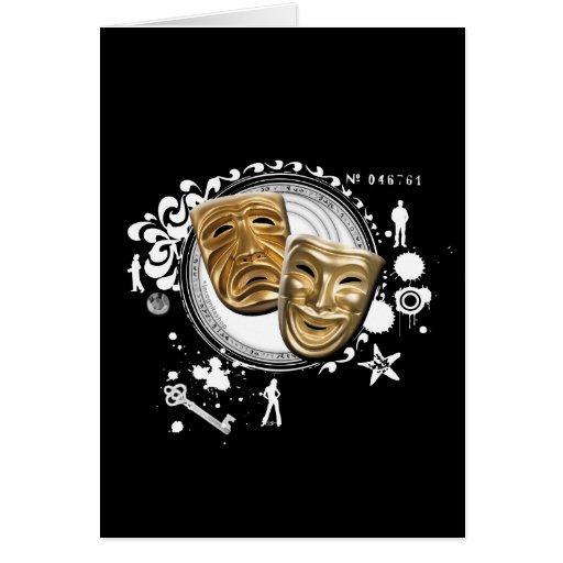 Alquimia de las máscaras temporarias del drama tarjetas