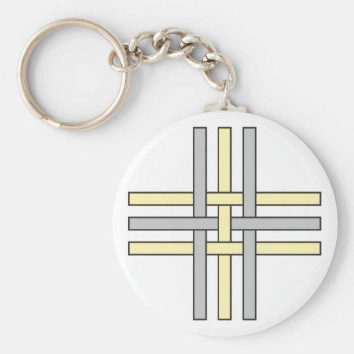Alquimia símbolo Schwefeleisen fez Llavero Redondo Tipo Pin