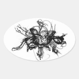 Alquimia - tinta en agua calcomanía de óval personalizadas