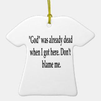 Already Dead Double-Sided T-Shirt Ceramic Christmas Ornament