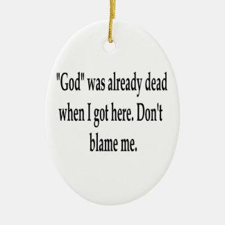Already Dead Double-Sided Oval Ceramic Christmas Ornament