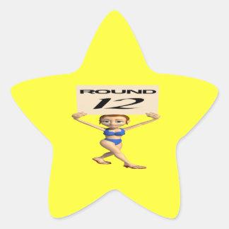 Alrededor de 12 pegatina en forma de estrella