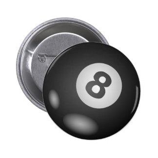 Alrededor de 8 botones de la bola pin redondo de 2 pulgadas