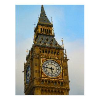 Alrededor de Gran Bretaña Big Ben torre de reloj Postal