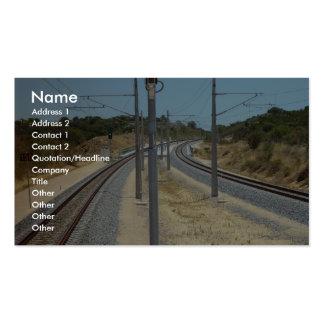 Alrededor de la curva quema el puente del ferrocar plantillas de tarjetas de visita