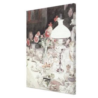 Alrededor de la lámpara en Evening, 1900 (w/c en e Impresiones De Lienzo