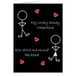 Alrededor de la tarjeta del día de San Valentín de