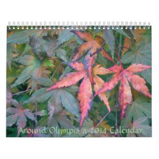 Alrededor de Olympia WA, un calendario 2014 de